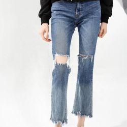 На заводе прямые продажи ослабление брюки мешковатых наклон джинсы Леди Ripped парень в джинсах женщин