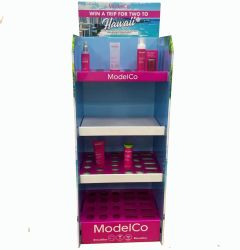 Carton ondulé personnalisé Fsdu POS étagère d'affichage des unités bouteille cosmétiques montrant