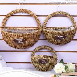 De zuivere Met de hand gemaakte Decoratie die van het Huis de Rieten Seagrass van de Tuin van de Bloem van de Kabel van Pape van de Rotan van de Draad van het Stro van het Bamboe van de Hyacint van het Water Houten Mand van de Opslag weven