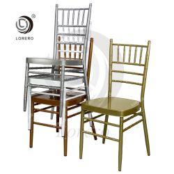 Hôtel Restaurant d'empilage de métal Chiavari événement banquet chaise de salle à manger
