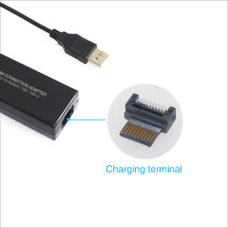 Netz-Karten-Adapter USB2.0 des LAN-Anschluss-100Mbps für Ns Nintendo-Schalter Wii-Wiiu Spiel-Zubehör