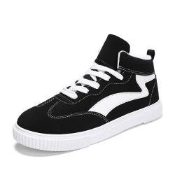 Оптовая торговля Custom новой моды по верхней части баскетбол натуральная кожа Совет школа игры в обувь для мужчин