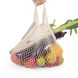 Maillage réutilisable écologique produisent du coton sac d'Épicerie