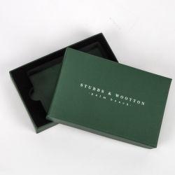 Impressão personalizada de Topo e base do Negócio de Papelão Cartão VIP Cartão Flash USB na caixa de embalagem