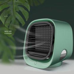 Индикатор 7 цветов ночной свет электрический арктической мини вентилятор охладителя нагнетаемого воздуха с помощью USB