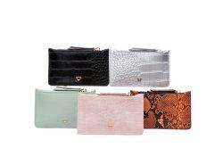 Популярные подлинные Croco PU плоский карман держатель карточки пользовательский идентификатор кредитных карт владельцев банковских карт случае Wholesales 10-12 ПК можно продавать