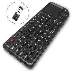 Federación de A8 para la presentación PC Laptop TV 2.4G con retroiluminación de aire de bolsillo Mini Keyboard con teclado táctil