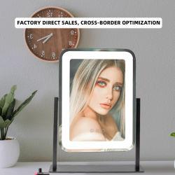 De Make-up van de reis met LEIDEN Licht op het Spiegel Aangestoken Glas van de Spiegel van de Spiegel van de Make-up