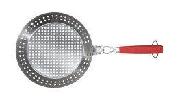 [أم] مشواة مستديرة [ألومينوم لّوي] [كيتشنور] بيتزا [بّقفرينغ] منزل [بكور] تحميص [تبربّ] مطبخ أدوات متعدّد وظائف [نونستيك] فولاذ حديد حوض طبيعيّ