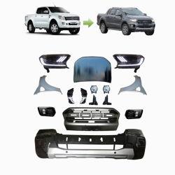 2012-2014 고품질 신차 개조 차체 키트 장착 Ranger T6 2019 Ranger Raptor로 업그레이드