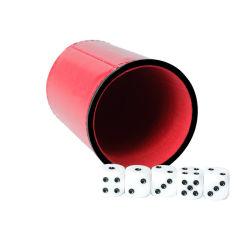 2021 Bar KTV globular Dice Cup Shaker Dice Game Custom Leren dobbelstenen bekers