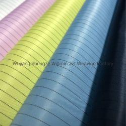 Des 98% Polyester-2% statisches Antigewebe Kohlenstoff-der Faser-100d mit Teflonbeschichtung, die beständig gegen Hochtemperatur- und waschbares kann