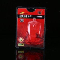 Benutzerdefinierte klare Pet Kunststoff Tri-Fold Clamshell Blister Verpackung für Maus