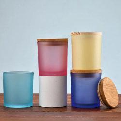 Оптовые матовые цвета Настраиваемый цилиндрический бетон Кэндл jar