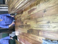 安い価格の堅材の純木のフロアーリングとのチークカラー自然な様式の大きい葉のアカシア