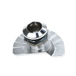亜鉛合金の明るいクロムめっきの三角形のタイプ管状の主カムロック