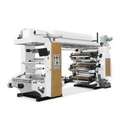 La pila de alta velocidad para las bolsas de embalaje para la carne y aceite de Color 6 Flexo Precio máquina de impresión flexográfica
