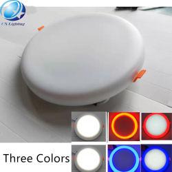 Licht van het Plafond van het LEIDENE Comité van Frameless het Lichte Dubbele Kleur In een nis gezette om Regelbaar Vierkant