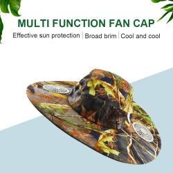 カスタム夏のスポーツの冷却の帽子の屋外の帽子の太陽冷却ファンの帽子