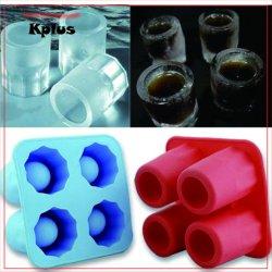 夏の氷の立方体のトレイ 4 のコップの打撃のガラスの型冷却 食器洗い機シリコン H3p