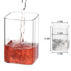 220ml vaso de vidrio recto de la plaza mayorista tazas de agua, jugo