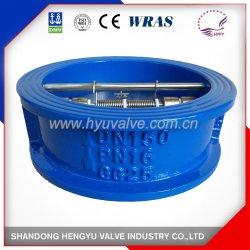 JIS DIN estándar ANSI Hierro fundido de la válvula de retención de placa doble