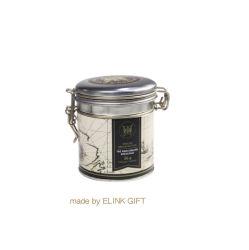 ティーバッグの記憶のための蝶番を付けられたふたが付いている円形の気密の茶フルーツ砂糖の金属の錫ボックス