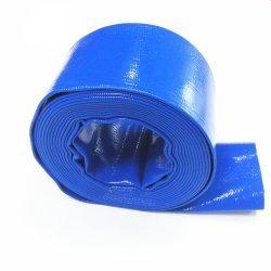 평탄 플라스틱 물 배출 튜브 파이프 중부하 작업용 토출 호스를 놓습니다