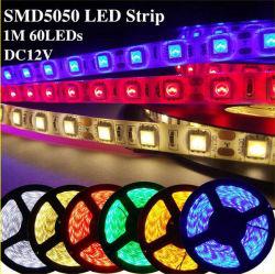 Высокое качество светодиодного освещения SMD5050 RGB со светодиодной полосы света 60светодиодов/M