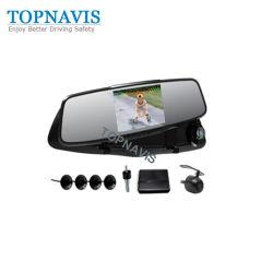 Espelho de carro de 4,3 polegadas DVR com Sensor de Estacionamento de vídeo
