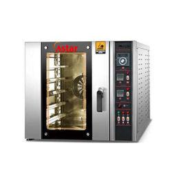 In het groot Apparatuur 5 van de Bakkerij van de Keuken de Oven van de Convectie van de Hete Lucht van de Cake van het Brood van de Pizza van het Gas van Dienbladen met Stoom