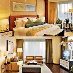 Mobilia superiore di lusso del re Size Hotel Wooden Bedroom della lacca dell'impiallacciatura del compensato del laminato di disegno per l'hotel cinque stelle di Sofitel (GL-00001)