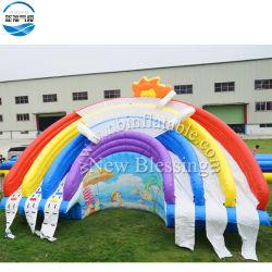 무지개 만화 거대한 팽창식 수영장 활주, 판매를 위한 큰 물 미끄럼