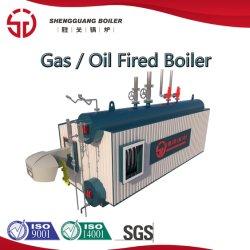 산업 뒤 기름 가스에 의하여 발사된 증기 보일러를 적시십시오