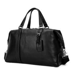 عالة تصميم [هيغقوليتي] أسود [نبّا] جلد سفر حقيبة [جنوين لثر] [دوفّل بغ] لأنّ رجال