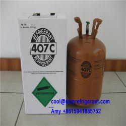 99,8% de pureté 22 remplacement Gaz réfrigérant R407c, R407 Gaz