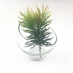Décoration en verre Cold Cut verrerie Verre Artisanal Craft Verrerie de décoration en verre transparent Handblown Vase en verre d'oeufs de couleur