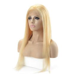 Blonde und Gerade Frauen' S Real Human Hair Full Lace Lw1-S Haarersatz