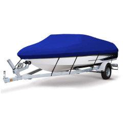 ファブリックボートカバーが付いている頑丈なボートカバー600d海洋の等級ポリエステルキャンバスTrailerable
