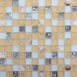 Sweden Style Coffee Shop Wand Dekorative Shell-Tile Mosaic