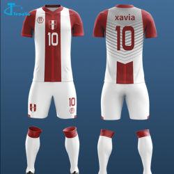 изготовленный на заказ<br/> Fast-Dry белые и красные футбол футболки, V шеи футбола Джерси,