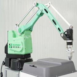 4 Préparation de l'axe et en plaçant le chargement de levage de matériel de manutention industrielle petit robot de l'industrie