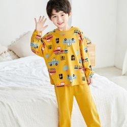 Comercio al por mayor desgaste de la Multa de dos piezas de algodón puro diseño de dibujos animados Cute bebé ropa de hogar los niños pijamas