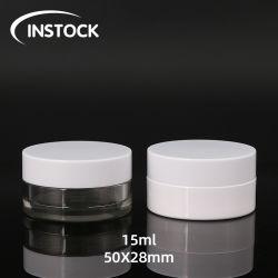 ペットプラスチック装飾的な缶のための15ml装飾的なびん