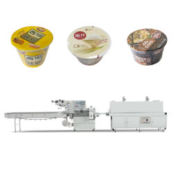 Cup-Tee-Papiercup-Filterglocke-Nudel-sofortige Nudel-Cup automatisierte horizontale Wärmeshrink-Filmhülle-Maschinen-Fügeabdichtung-Maschinerie
