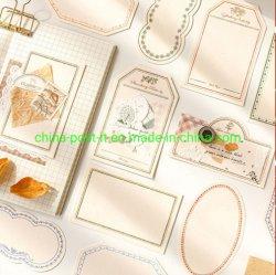 El bloc de papel para la decoración y el manual de decoración de fondo