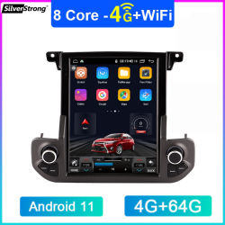 Android Market 11 para Land Rover Discovery 4 Auto-rádio Áudio 2 DIN Estéreo Android vertical do receptor de vídeo estéreo Multimedia player de DVD
