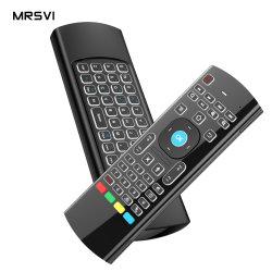 2.4G 무선 키보드 Air Fly Mouse for Smart TV Box 마이크 음성 입력 IR 리모콘 Mx3 에어 마우스