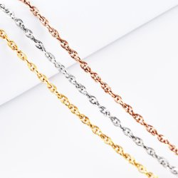 Caliente la venta de accesorios de moda regalos joyas Collar Pulsera de acero inoxidable Anklet chapado en oro.