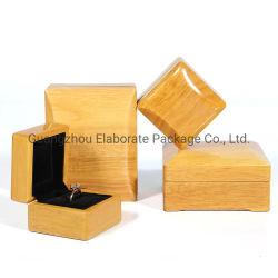 Commercio all'ingrosso impaccante di legno reale del contenitore di regalo dei monili di lucentezza dell'acero naturale marrone chiaro di lusso della lacca